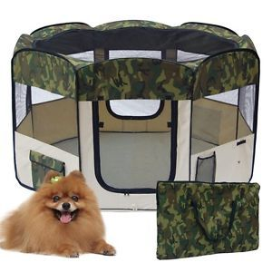 "56"" Camo Pet Tent Puppy Dog Playpen Exercise Pen Kennel"