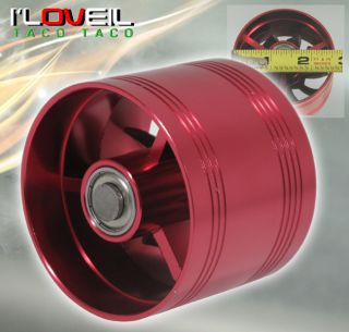 "2 5"" Cold Air Short RAM Intake supercharger Single Fan Gas Fuel Saver Red Chevy"