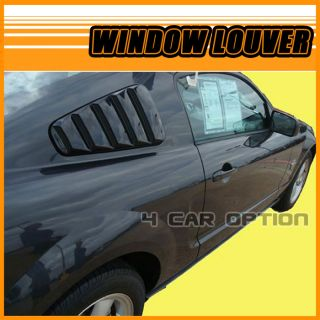 Ford Mustang 05 09 Side Window Louvers Painted T8 Tungsten Gray