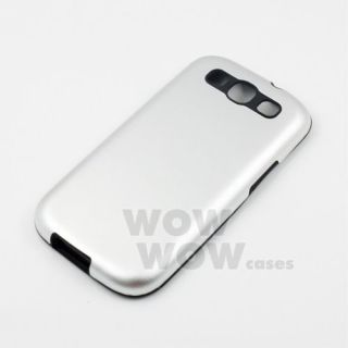 Silver Aluminum Metal Silicone Side Case Cover for Samsung Galaxy S3 SIII I9300