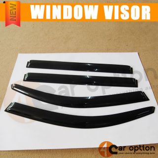 Toyota Highlander 2008 2012 Sun Window Visor Rain Guard Smoke Slim Style 4pcs