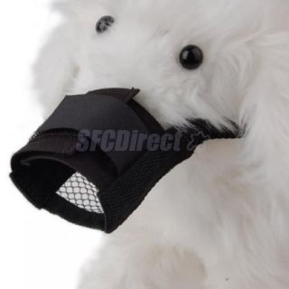 Soft Mesh Pet Dog Muzzle Anti Bark Bite Chew Blk Small