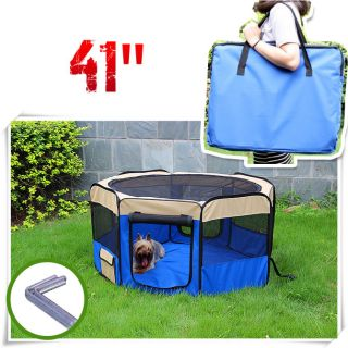 "6 Color 41"" Soft Pet Playpen Exercise Puppy Dog Cat Play Pen Kennel Folding Crat"