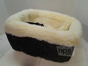 Snoozer 890 SC Small Pet Dog Car Seat Console Lookout w Cream Sherpa Lining