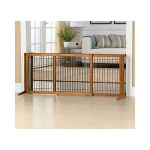 Top Paw Adjustable Stand Alone Baby Dog Pet Gate Fence Pen Kennel Freestanding