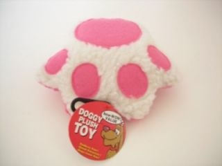 Squeaky Dog Toy Plush Paws Shape Without Rope Pink