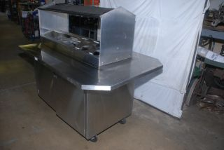 Stainless Condiment Restaurant Buffet Food Hot Dog Table NSF Nopl Inv 6032