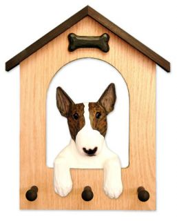 Bull Terrier Dog House Leash Holder in Home Wall Decor Products Dog Gifts