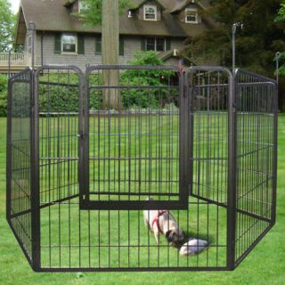 2 Heavy Duty Cage Pet Dog Cat Barrier Fence Exercise Metal Play Pen Kennel New