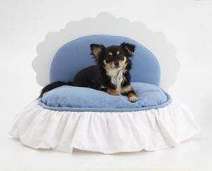 Posh Puppy Designer Bed  Dog,Cat Bed Wood Frame,Luxury Upholstered  Judio9  NEW