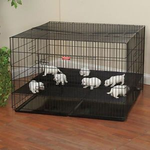 Puppy Playpen Close Spacing Top Front Doors Pet Puppy Pen Dog Cage 3 Sizes