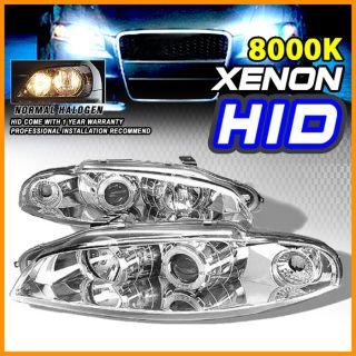 8000K HID Fit 97 99 Mitsubishi Eclipse Halo Projector Headlight Chrome