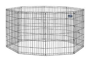 "Midwest Black E Coat Pet Dog Exercise Pen Containment Kennel 36""HX 24""w 554 36"