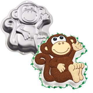 Wilton Monkey Cake Tin Baking Pan Birthday Party Supplies