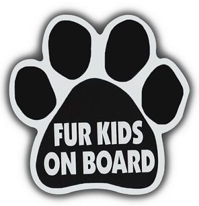 Dog Paw Shaped Magnet Fur Kids on Board Cars Trucks Refrigerators