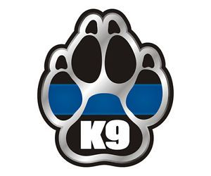 "K9 Paw Police K 9 Dog Unit Thin Blue Line Car Vinyl Sticker Decal 5""x4 3"" K1 G 5"