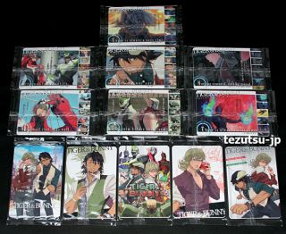 Anime Tiger Bunny Trading Card and Sticker Complete Set Barnaby Kotetsu RARE