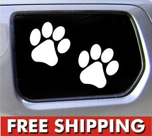 Paw Prints Dog Decal Funny Car Vinyl Sticker Decal Window Puppy