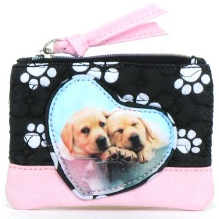 Paw Print Golden Retriver Dogs Coin Purse Handbag Tote