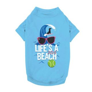 Medium Dog Beach Tee Shirt Bichon Beagle Shih Tzu Dog Clothing Pet Supplies M