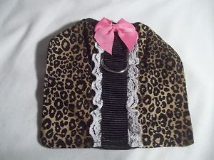 Handmade Leopard Print Small Dog Puppy Clothes Pet Harness Dog Supplies 5""