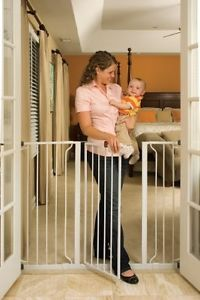 Regalo Walk thru Baby Pet Safety Safe Secure Extra Tall Widespan Gate Door