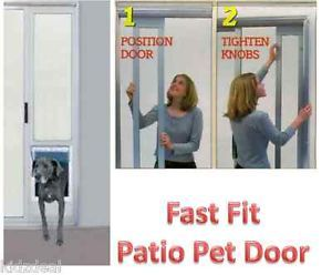 "XL ""Fast Fit"" Patio Panel Insert Pet Dog Cat Porch Sliding Glass Door Labrador"