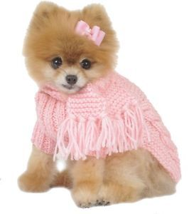 Max's Closet Pet Dog Clothing Pink Cabled Dog Sweater w Scarf Small Dog New XS L