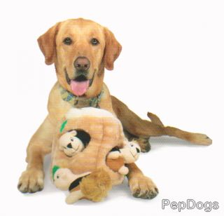 Kyjen Plush Puppies Dog Squeaky Puzzle Games Large Toy