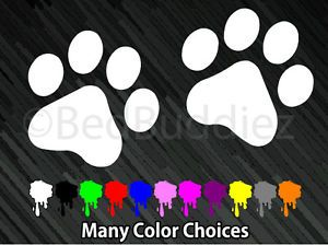 2X Cat Dog Animal Paw Paws Print Feet Vinyl Car Decal Decals Sticker Window Wall