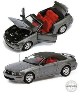 Franklin Mint 2007 Dark Gray Mustang GT Convertible Limited Edition B11E558