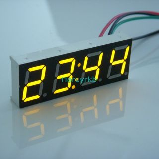 "0 40"" Electric Digital LED Car Motorcycle Clock Watch Time 12V 24V Yellow Clock"