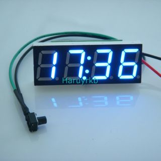 "0 40"" Electric Digital LED Car Motorcycle Clock Watch Time DC 12V 24V Blue Clock"