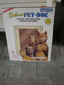 New in Box Johnson Doggie Dog Pet Door XL Extra Large Metal Frame