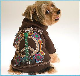 Dog Clothes Peace Hoodie Sweatshirt Size XS 2 to 4 Pounds Shirt Sweater Coat