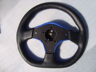New EZ Go Club Car Yamaha Steering Wheel Golf Cart Custom Black Blue 3 Spoke