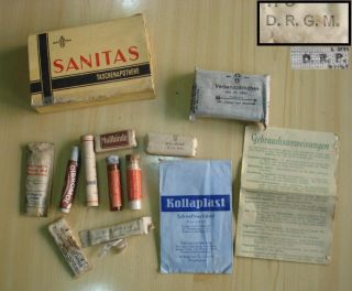 WWII Original German Youth Scout Field First Aid Kit