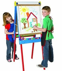 3 in 1 Erase Board Chalk Board Draw Young Artists Kids Art Standing Easel Great