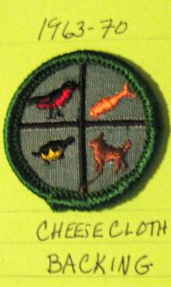 Junior Girl Scout Pets Badge 1960s Mint Condition Patch Bird Cat Dog Fish New
