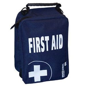 Empty First Aid Kit Bag with Compartments Large Blue