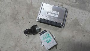 BMW DME Engine Computer EWS Key E38 740i M62TU 740IL Motronic PCM Modules Set