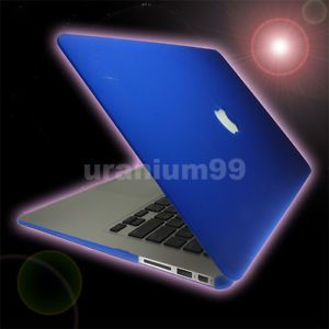 "Hard Cover Case Plastic Blue 13 "" 13 3 "" Apple MacBook Air Laptop Notebook Mac"