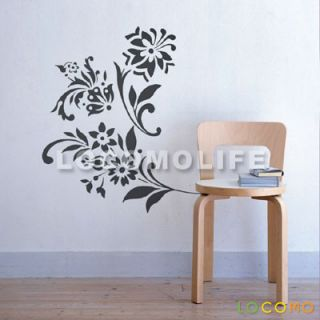 DIY Wall Paper Sticker Decal Decor Art Flower Pattern