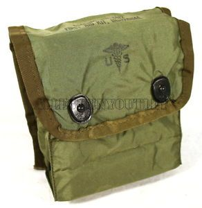 USGI Military Army Individual First Aid Kit IFAK LC 2 Medic Pouch w Clips
