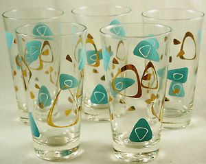 Art Deco Blue Glass