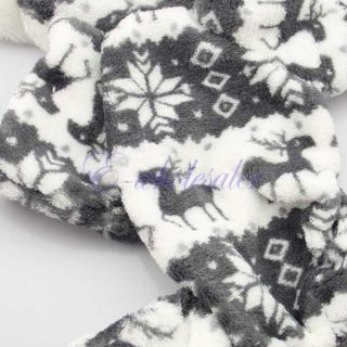 3 Sizes Pet Dog Soft Winter Hoodie Clothes Snowflake Deer Jumpsuit Hoody Coat