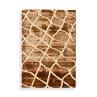 Safavieh Miami Shag Collection Ettison Rugs in Crème/Brown