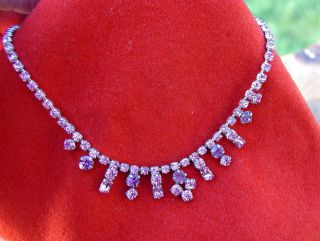 Beautiful Art Deco Style Pink Crystal Necklace Beautiful Colour Shape Design