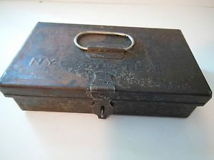Vintage NYC System First Aid Box 6648 Railroad Train Bus Transportation