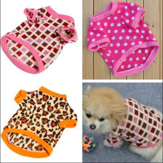 Pet Dog Cat T Shirt Fleece Clothes Puppy Rabbit Jacket Coat Apparel Fancy Dress